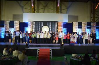 The Top 15 Business Taxpayers of Baliwag for 2017 represented by their officials together with Mayor FVE, Vice Mayor Chris Clemente, Municipal Administrator Enrique Tagle and Treasury Office Head Marty Javier.